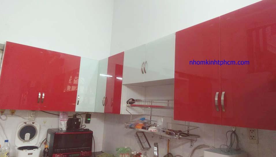 tủ bếp nhôm kính đẹp hcm