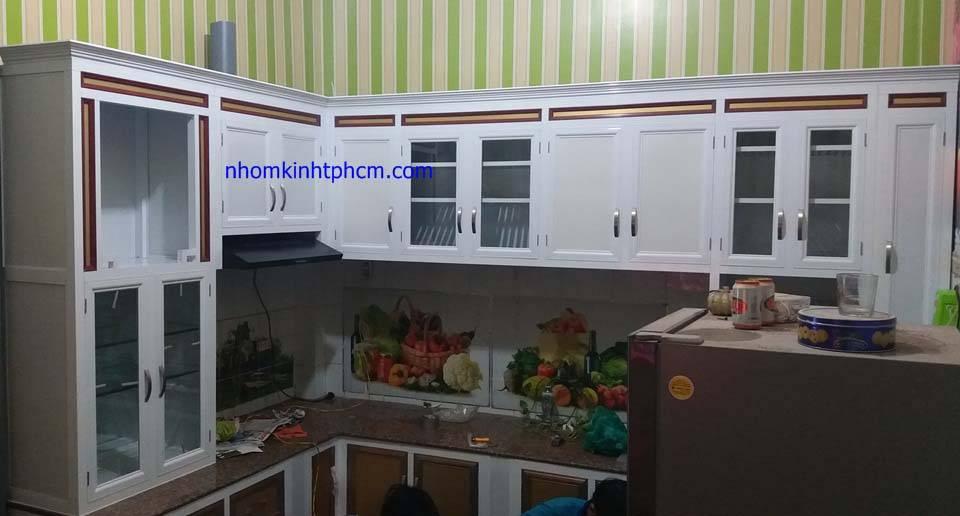 tủ bếp khung nhôm kính hà nội