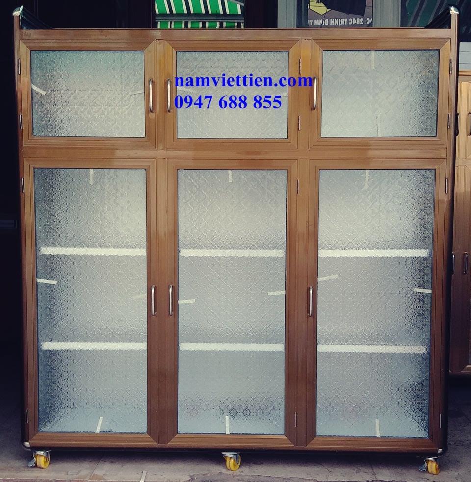 20170903 161331 - Tủ đựng chén nhôm kính cao cấp HCM