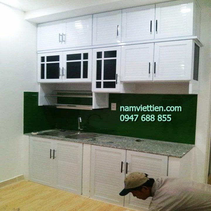 Tủ bếp nhôm kính đẹp giá rẻ hà nội