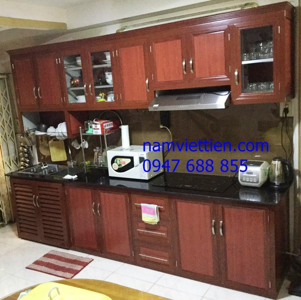 tủ bếp nhôm kính giá rẻ quận 12 tphcm