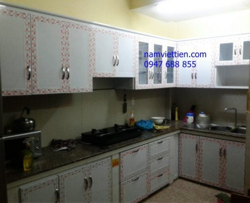cac laoi tu bep nhom kinh 510x415 - Tủ bếp nhôm kính hiện đại
