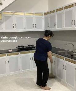Tủ bếp nhôm kính giá rẻ hcm