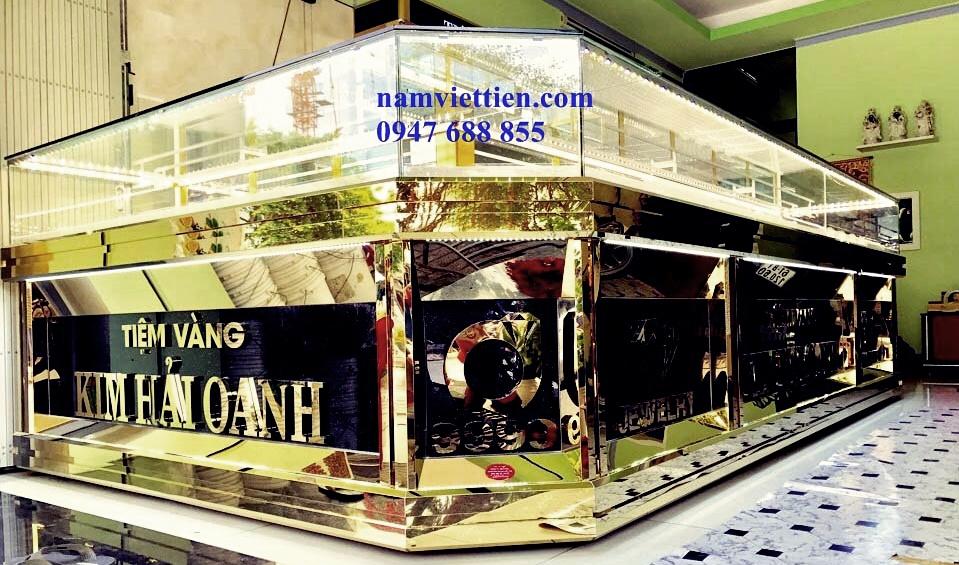ke tu trung bay san pham - Tủ bán vàng bạc