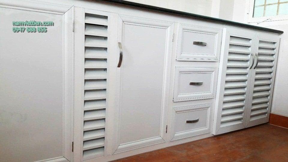 tủ bếp nhôm kính sơn tĩnh điện tphcm