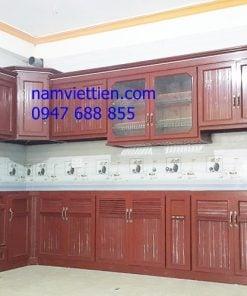 mẫu tủ bếp nhôm kính giá rẻ hcm