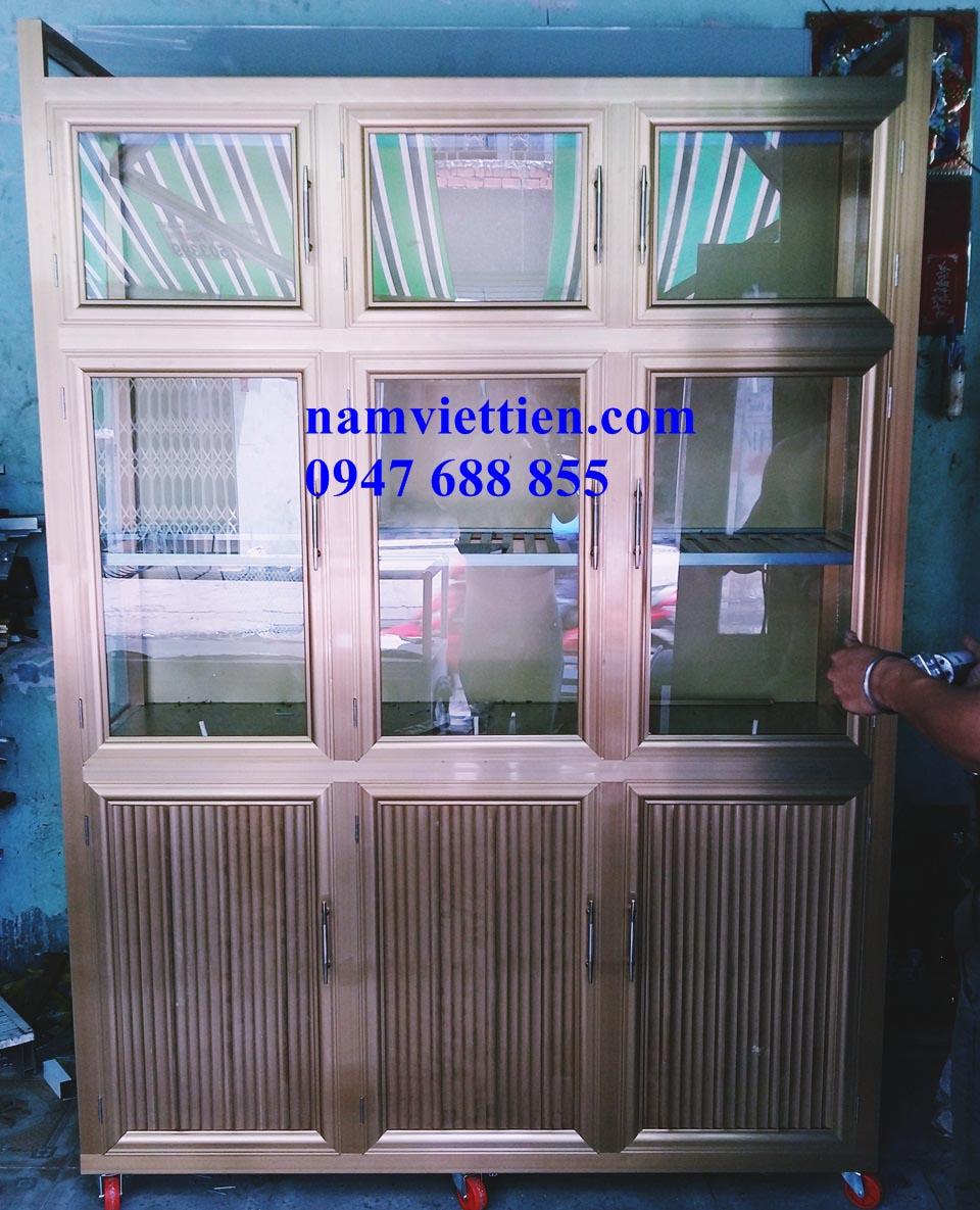 20150906 130320 - Tủ đựng chén nhôm kính cao cấp