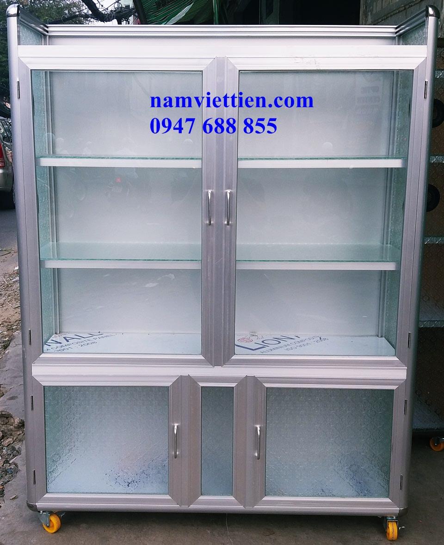 Tủ chén nhôm kính HCM