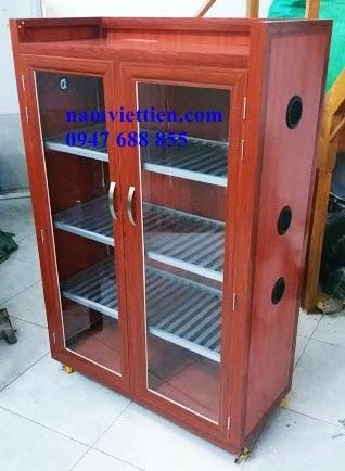 Tủ chén nhôm kính giá rẻ hcm
