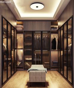 tủ quần áo gỗ cánh kính