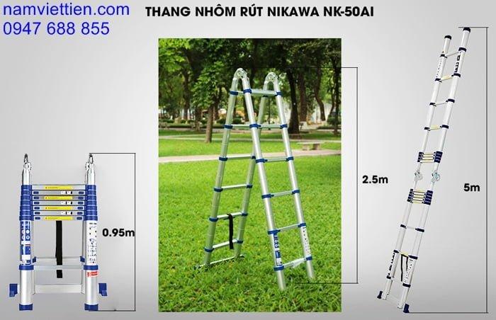 dai ly ban thang nhom rut gia re tphcm - Thang nhôm Nhập Khẩu Nikawa NK-50AI(5M)