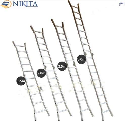 Thang nhôm khóa tự động Nikita Nika15 cao 1m5