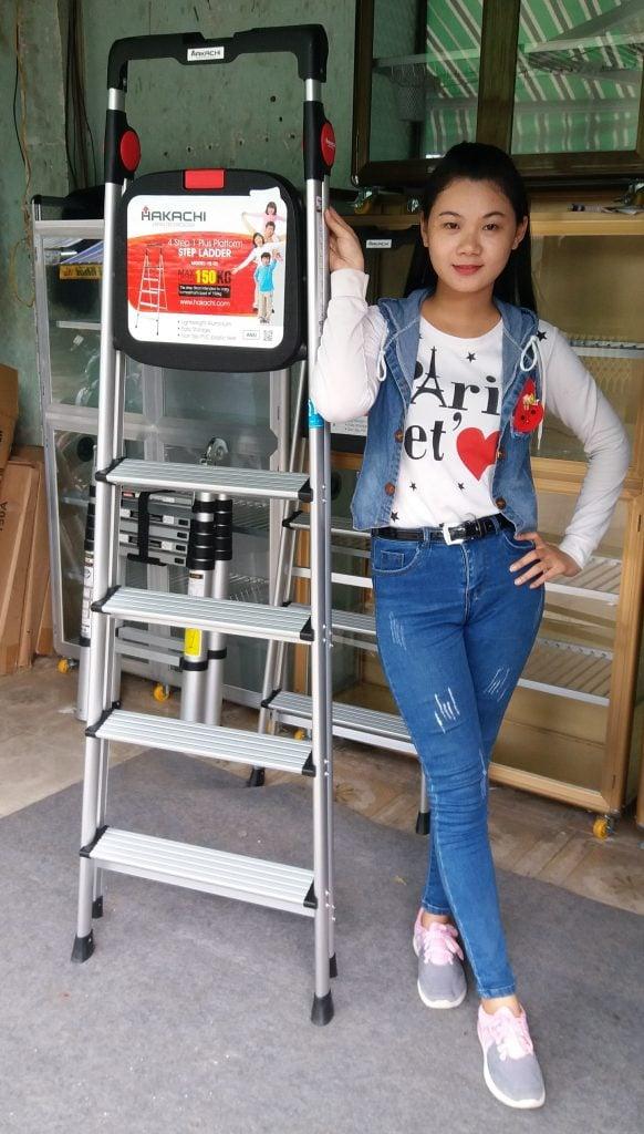 thang nhom hakachi phan phoi gia re chinh hang hcm 582x1024 - Thang nhôm ghế Hakachi HL-05 chính hãng