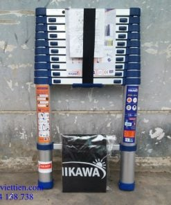 thang nhôm rút gọn nikawa cao 4m4 cao cấp