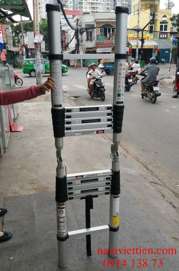 Thang nhôm rút chữ a HM-14CP giá rẻ