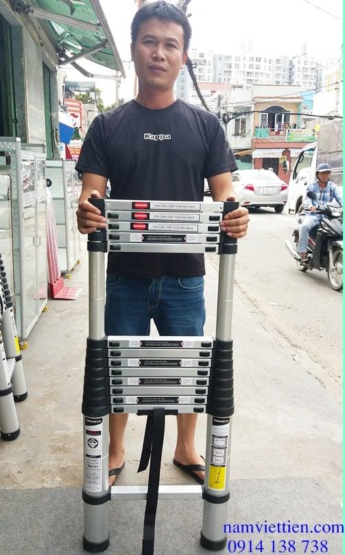Thang nhôm rút đơn Hakachi HT-440CP