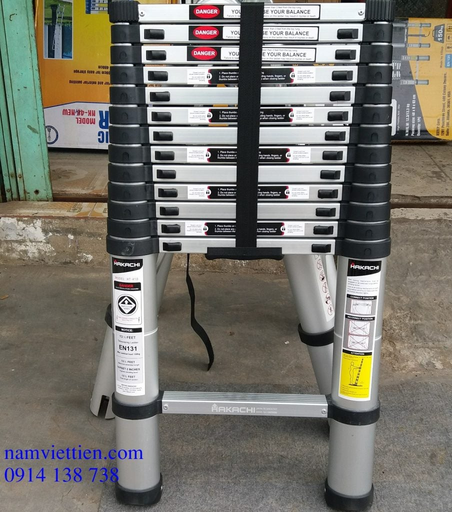 Thang nhôm rút điện lực TPHCM Hakachi HT-410 nhập khẩu