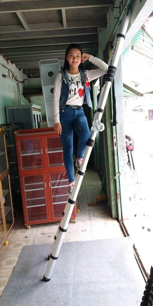 Thang nhôm rút điện lực Xstep XM-28 nhập khẩu