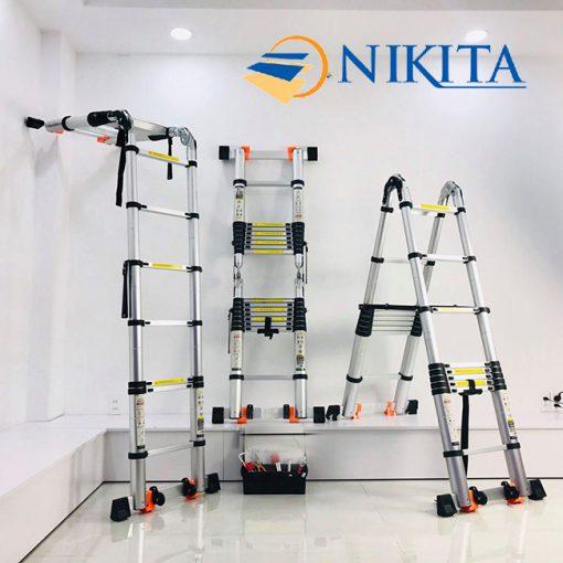 Thang nhôm rút đôi Nikita NKT-AID64