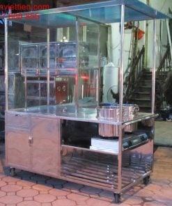 Cửa hàng xe bán phở bằng inox