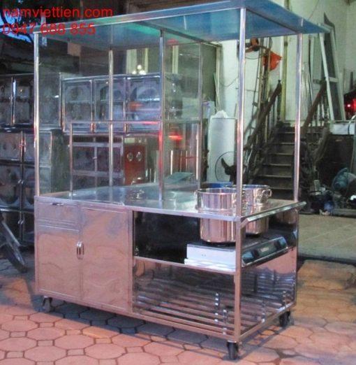 tu ban pho bang inox 1 510x522 - Cửa hàng xe bán phở bằng kính nhôm inox