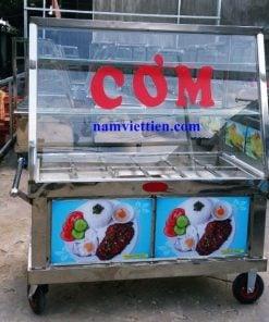 Tủ bán phở bán cơm bằng inox