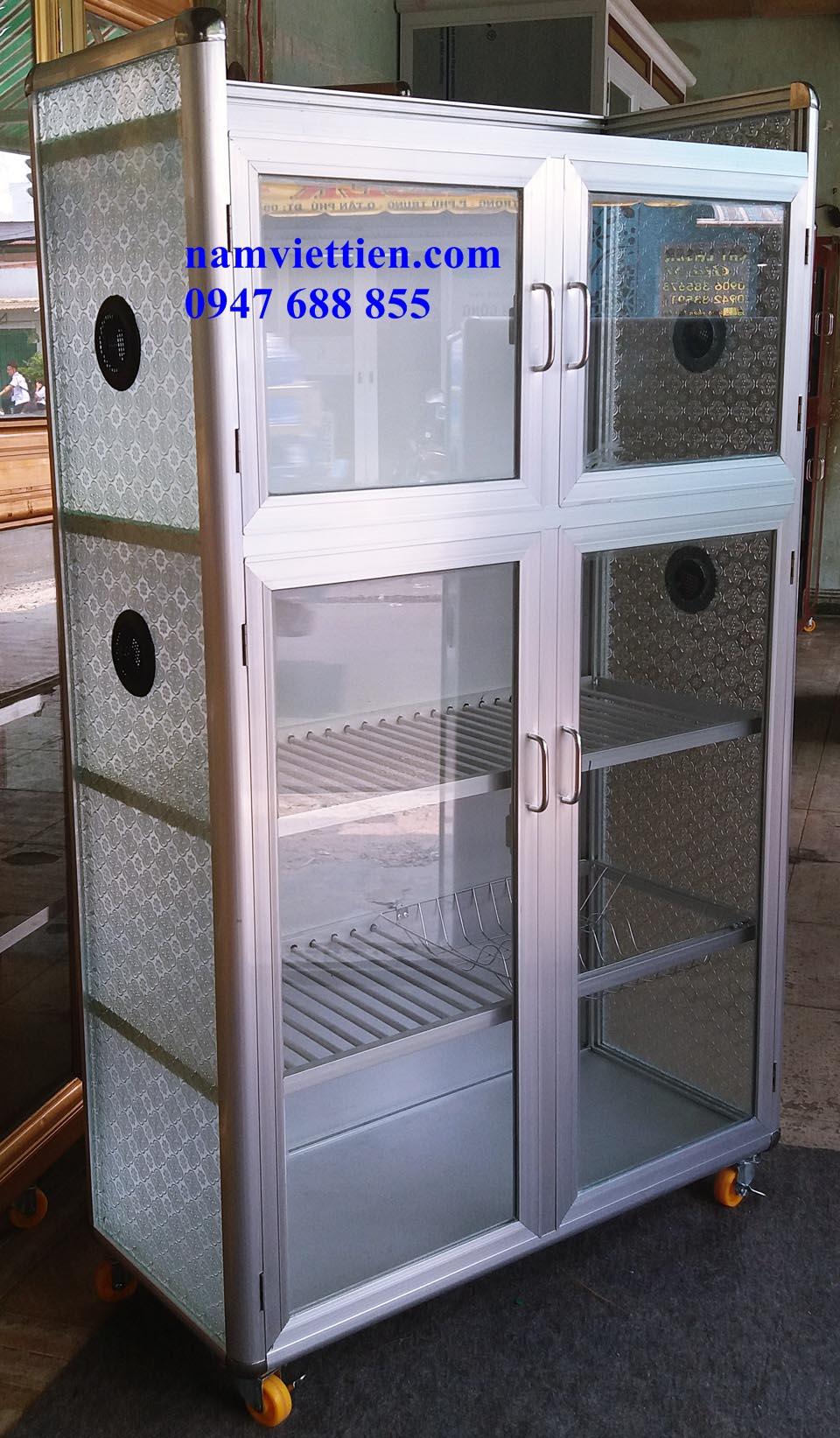20180323 122915 - Các loại tủ đựng chén nhôm kính giá rẻ