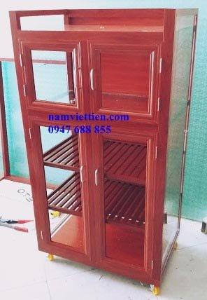 hình ảnh tủ bếp nhôm kính