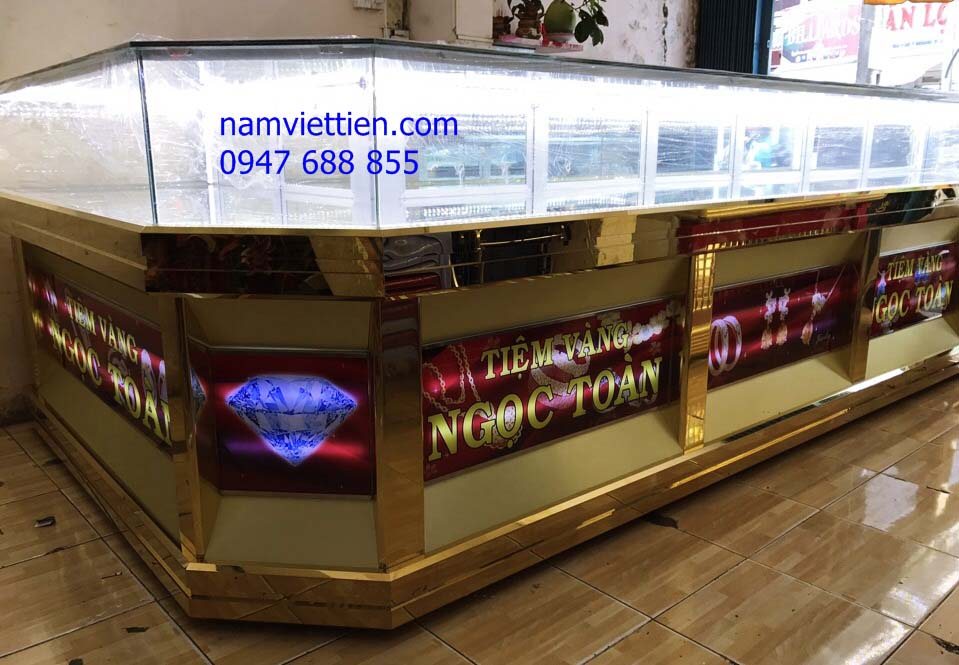 tủ bán vàng trưng bày trang sức