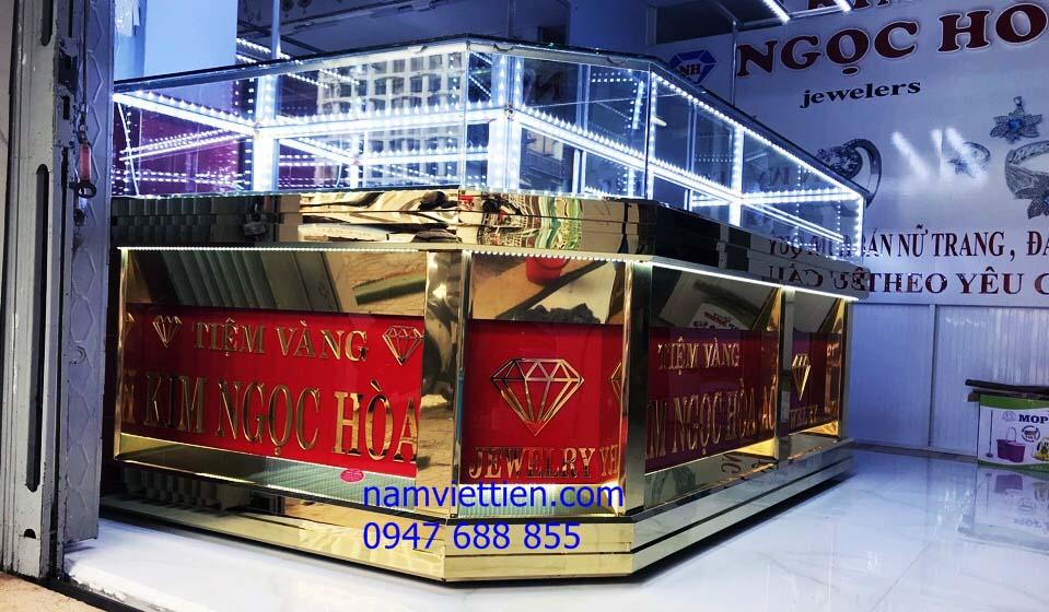 3 - Mẫu tủ bán vàng bạc đá quý đẹp