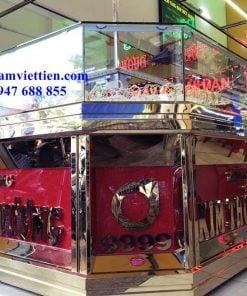 Thanh lý tủ bán vàng nhôm kính