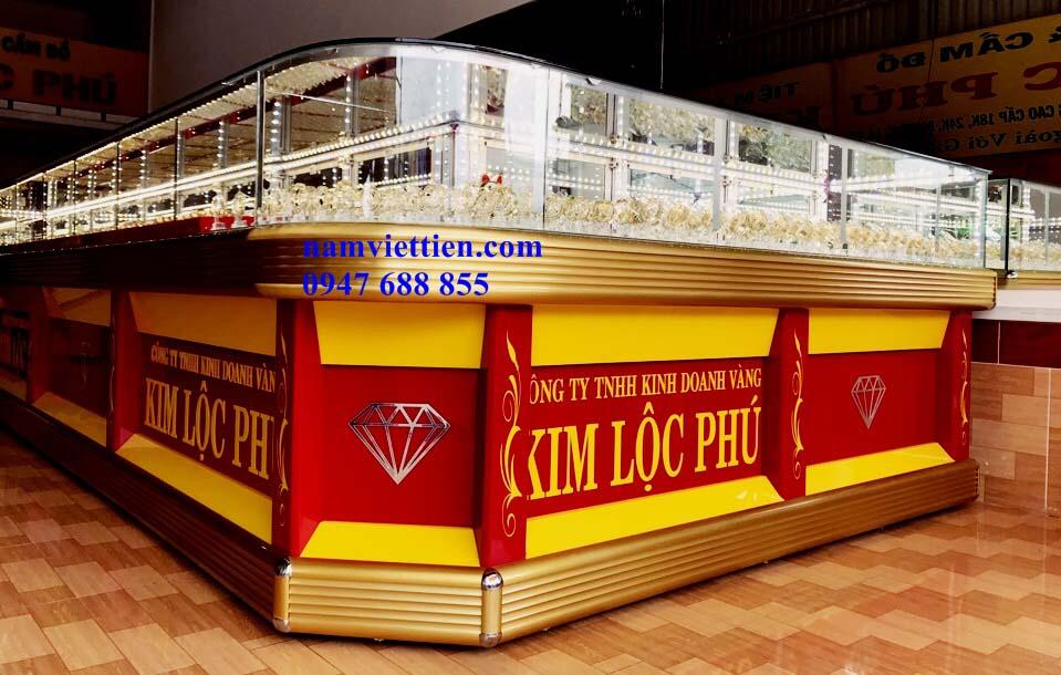 5 - Mẫu tủ bán vàng bạc đá quý đẹp