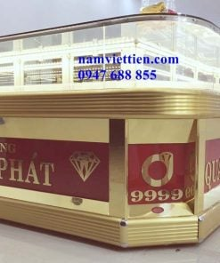 Tủ bán vàng nhôm kính giá rẻ