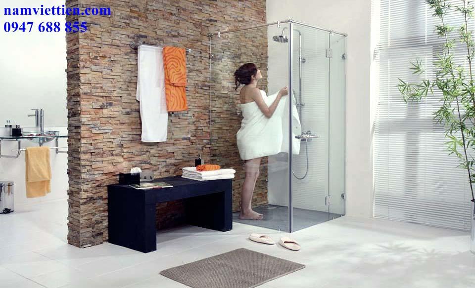 phòng tắm kính cường lực HCM