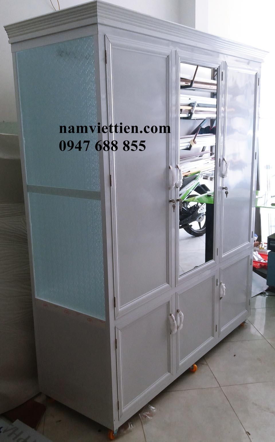 Tủ quần áo nhôm kính đẹp Nam Việt Tiến