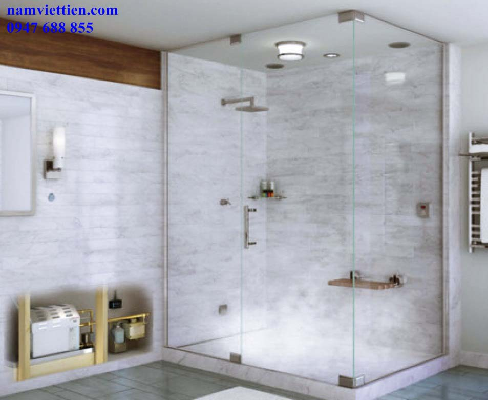 buong tam kinh - Báo giá vách kính phòng tắm