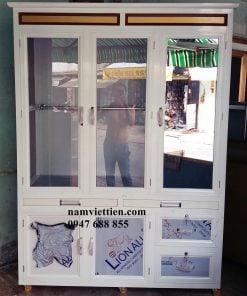 Tủ quần áo nhôm kính