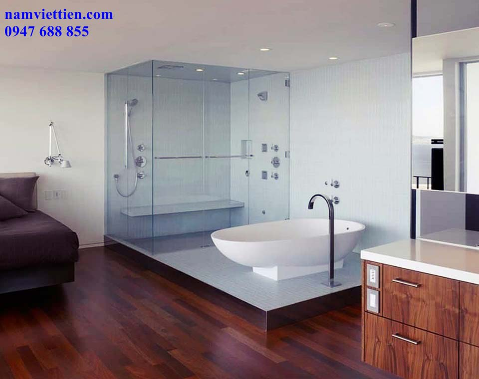 vach tam kinh 7 1024x793 - Mẫu phòng tắm kính đẹp