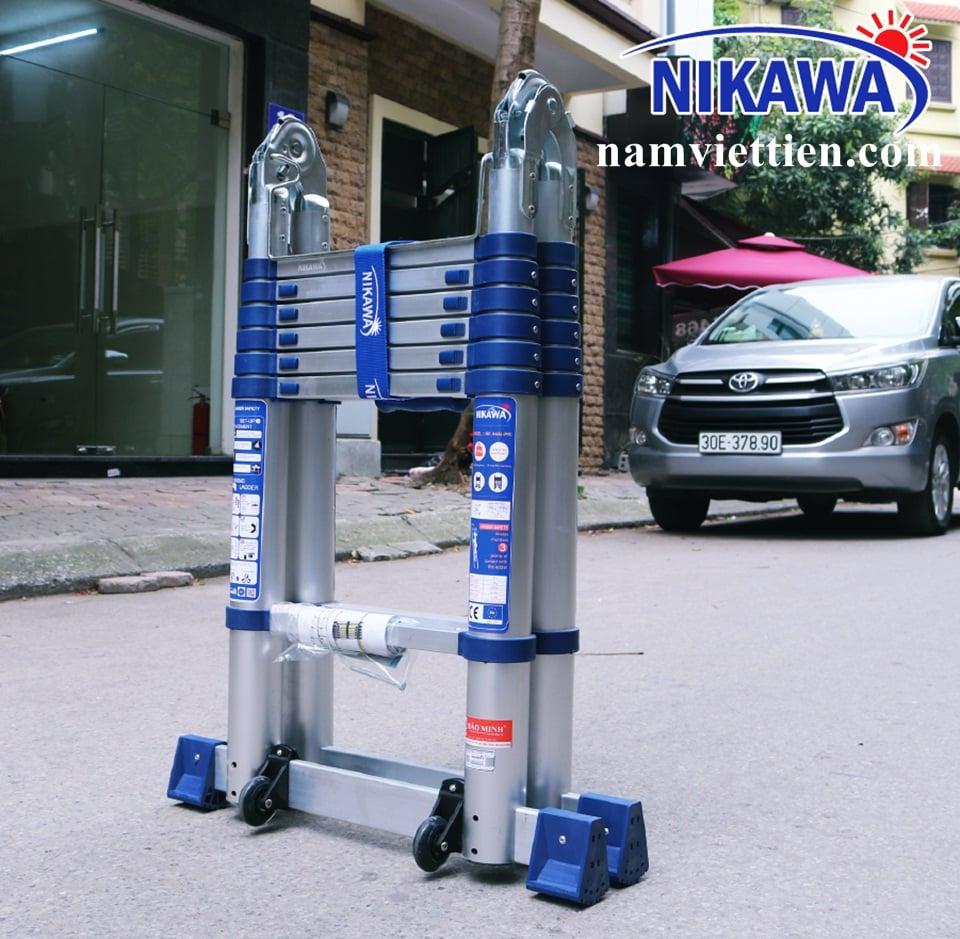 thang nhom rut doi nikawa - Thang nhôm rút đôi  Nikawa NK-56AI-Pri[5,6m]