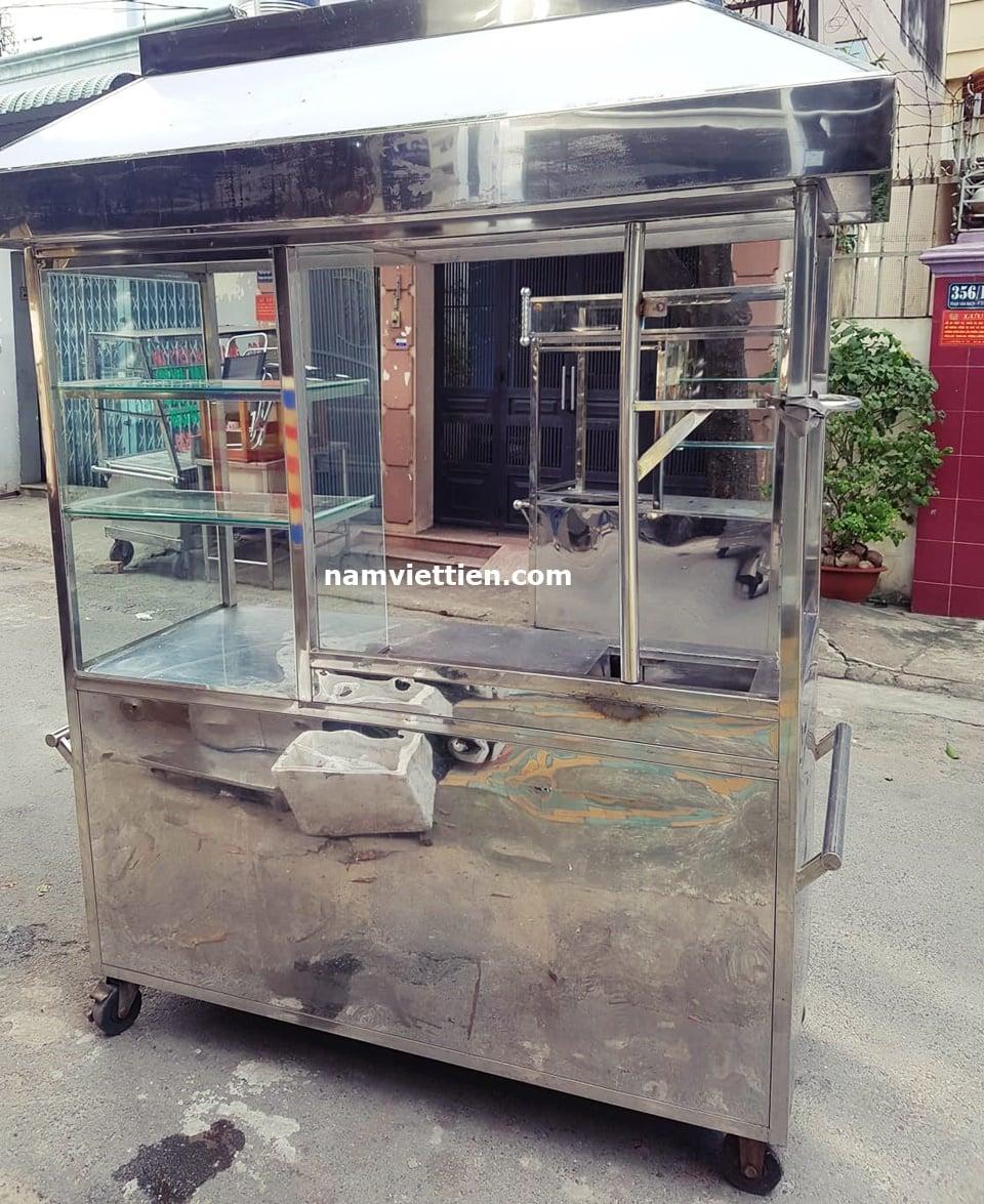 thanh ly xe ban hu tieu inox - Thiết kế quầy bán phở