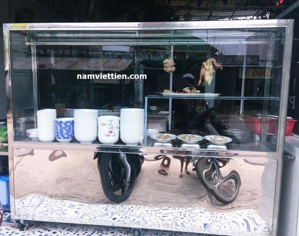 xe ban pho inox - Tủ bán phở inox