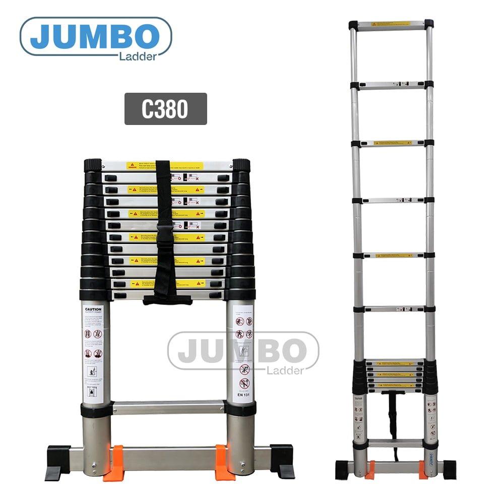 thang nhom cao cap jumbo c380 - Thang rút nhôm cao cấp Jumbo C380