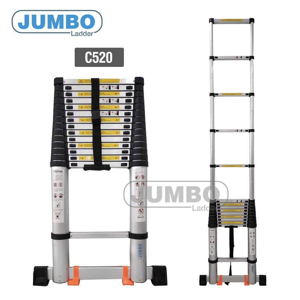 thang nhom cao cap jumbo c520 - Thang rút nhôm cao cấp Jumbo C520